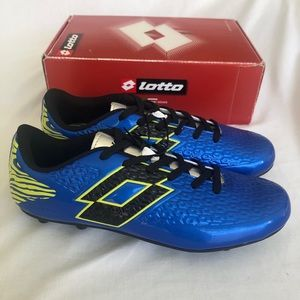 Lotto Soccer Defender Blue Cleats Boys Size 6 New